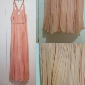 J crew Anabel gown dress silk chiffon pink